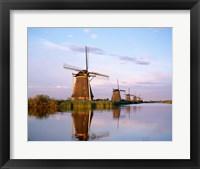 Framed Windmills, Kinderdijk, Netherlands