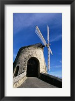 Framed Windmill at the Whim Plantation Museum, Frederiksted, St. Croix Closeup