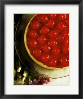 Framed Close-up of a cherry covered cheesecake