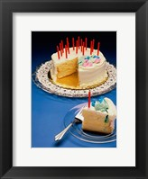 Framed Close-up of candles on a birthday cake