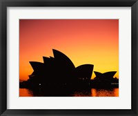 Framed Sunrise over an opera house, Sydney Opera House, Sydney, Australia