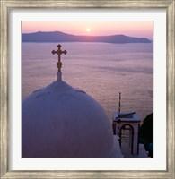 Framed Sunrise, Santorini, Oia, Cyclades Islands, Greece