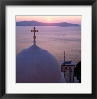 Framed Sunrise, Santorini, Oia, Cyclades Islands, Greece