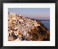 Framed Santorini City in Greece