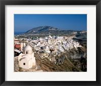 Framed Thira (Fira) City, Cyclades Islands, Greece