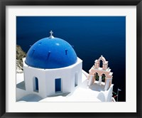 Framed Santorini, Oia , Cyclades Islands, Greece Arial View