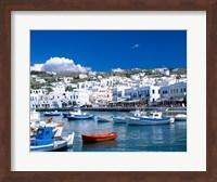Framed Town View, Mykonos, Cyclades Islands, Greece
