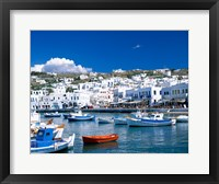 Framed Town View, Mykonos, Cyclades Islands, Greece