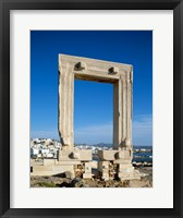 Framed Portara Gateway, Temple of Apollo, Naxos, Cyclades Islands, Greece