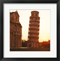 Framed Tower at sunrise, Leaning Tower, Pisa, Italy