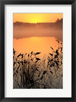 Framed Sunrise over a lake
