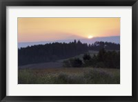 Framed Panoramic view of a sunrise, Oregon, USA