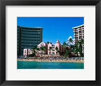 Framed Hotel on the beach, Royal Hawaiian Hotel, Waikiki, Oahu, Hawaii, USA