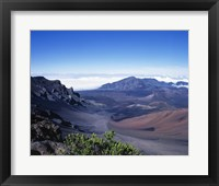 Framed Haleakala Crater Haleakala National Park Maui Hawaii, USA