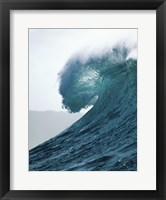 Framed Close-up of an ocean wave, Waimea Bay, Oahu, Hawaii, USA