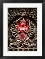 Framed Statue of a goddess, Kathmandu, Nepal