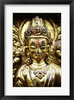 Framed Close-up of a statue, Kathmandu, Nepal