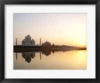 Framed Silhouette of the Taj Mahal at sunset, Agra, Uttar Pradesh, India