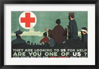 Framed Red Cross War Fund