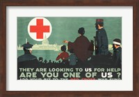 Framed Red Cross War Fund