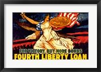 Framed Fourth Liberty Loan