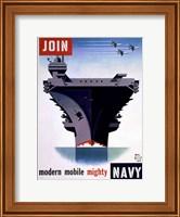 Framed Modern Mobile Mighty Navy