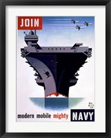 Framed Modern Mobile Mighty Navy