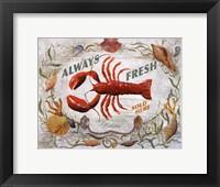 Framed Lobster