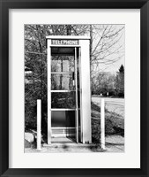 Framed Telephone booth by the road