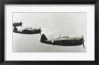 Framed Three fighter planes, P-47 Thunderbolt