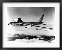 Framed Side profile of a bomber plane in flight, B-52 Stratofortress, US Air Force