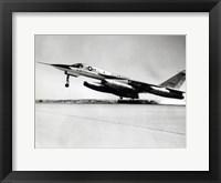 Framed Side profile of a bomber plane taking off, B-58 Hustler