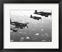 Framed Fighter planes in flight, US Marine Corps