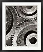 Framed Close-up of interlocked gears