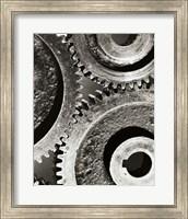 Framed Close-up of interlocked gears