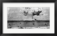 Framed Atomic bomb explosion, Bikini Atoll, Marshall Islands