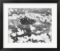 Framed High angle view of an atomic bomb explosion, Bikini Atoll, Marshall Islands, July 25, 1946