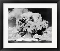 Framed Atomic bomb explosion, Bikini Atoll, Marshall Islands, July 24, 1946