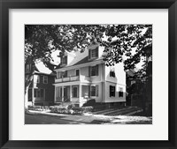 Framed Birthplace of John F. Kennedy, Brookline, Massachusetts, USA