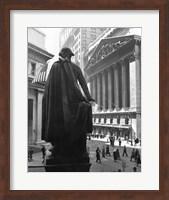Framed George Washington Statue, New York Stock Exchange, Wall Street, Manhattan, New York City, USA