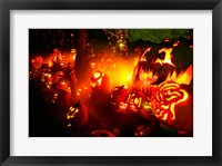Framed Jack o' lanterns lit up Roger Williams Park Zoo, RI