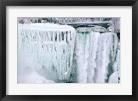 Framed High angle view of a waterfall, American Falls, Niagara Falls, New York, USA