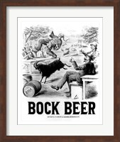 Framed Bock Beer celebration