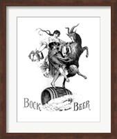 Framed Bock Beer Dance