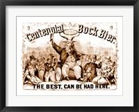 Framed Centenial Bock Beer