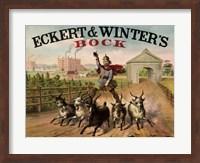 Framed Eckert and Winters Bock Beer
