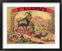 Framed F. Klems Bock Beer
