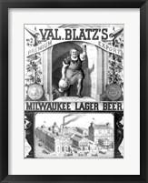 Framed Val Blatt's Lager Beer