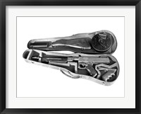 Framed Tommy Gun in a Violin Case