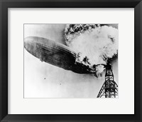 Framed Hindenburg Burning